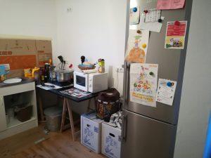 Cozinha provisória